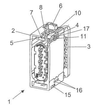 Conector eléctrico para un automóvil.