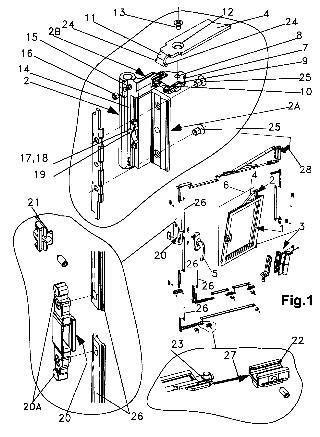 Dispositivo de hoja oscilobatiente para ventanas y similares for Puerta oscilobatiente