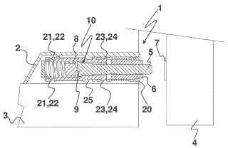 Dispositivo de cierre y apertura del tipo a presión para una parte móvil de una pieza de un mueble.
