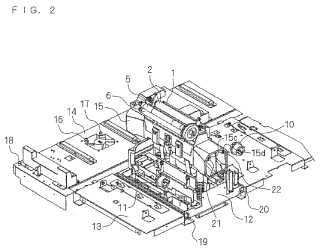 Impresora de transferencia térmica y procedimiento para retirar el cartucho de tinta.
