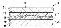 Tarjeta estratificada de capas múltiples, que tiene un elemento de seguridad incorporado, con estructuras en relieve.