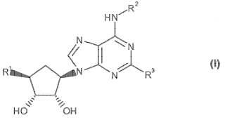 Derivados de purina para su uso como agonistas del receptor de adenosina A2A.