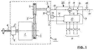 Procedimiento para el control de la potencia de accionamiento de una máquina de limpieza de motor eléctrico y máquina de limpieza para esto.