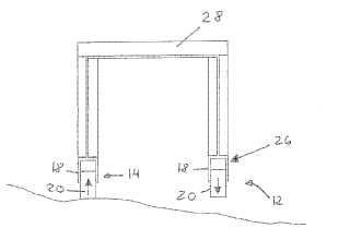 Soporte para soportar una estructura sobre una superficie.