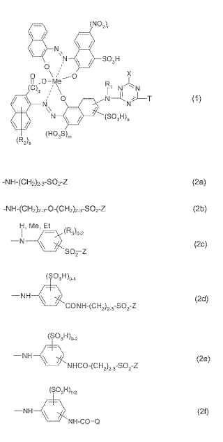 Colorantes reactivos, su preparación y su uso. (1)
