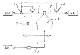 Procedimiento y dispositivo para la prevención de obstrucciones de las vías de circulación de un separador.