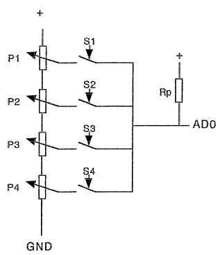 Teclas accionables de manera continua de un teclado con elemento de captación de señal integrado y procedimiento para el procesamiento de señales.