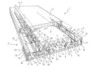 Elemento de construcción de soporte de carga, en particular para la fabricación de suelos de edificios y estructura de suelo que incorpora este elemento.