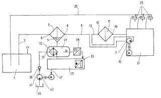 Procedimiento y dispositivo para la separación y descarga de agua contenida en combustibles líquidos, en particular agua de gasóleo.