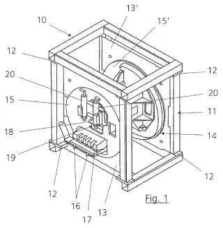 Dispositivo vibrador y procedimiento para eliminar la arena de los machos de piezas fundidas huecas.