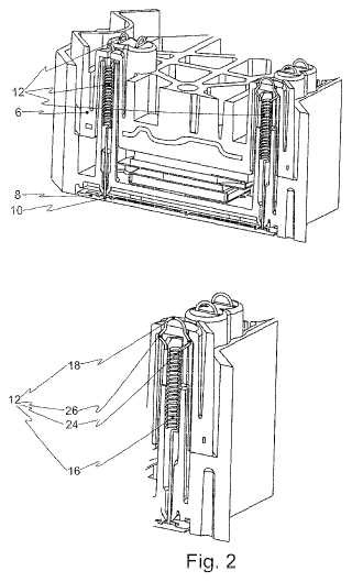Módulo de semiconductor de potencia con resorte de contacto auxiliar previamente cargado.