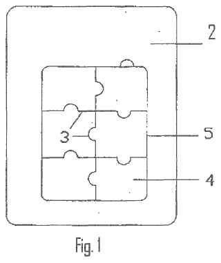 Procedimiento de recorte de las piezas de un puzle.