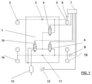 Sistema de control para suspensiones neumáticas de vehículo provisto de al menos un eje de accionamiento y al menos un eje adicional con carga simétrica en cada eje.