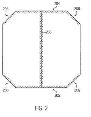 Bolsa de filtro de aspiradora con pliegue lateral.