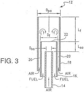 Un quemador para calentamiento de proceso que produce emisiones ultra bajas de óxido de nitrógeno (NOx).