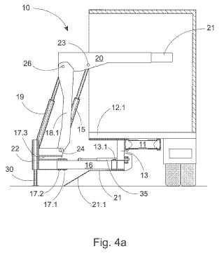 Dispositivo de elevación para un vehículo y un vehículo equipado con el dispositivo de elevación.