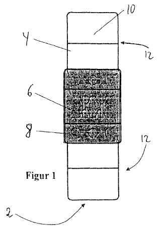 Módulo de chip transpondedor RFID con medio de conexión para una antena, etiqueta textil con un módulo de chip transpondedor RFID, así como uso de un módulo de chip transpondedor de RFID.