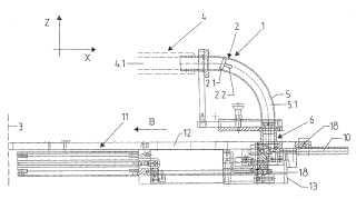 Sistema para unir pernos de soldadura con piezas de trabajo así como dispositivo para posicionar y separar pernos de soldadura para un sistema de este tipo.
