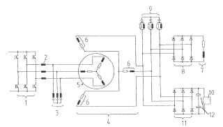 Instalación de energía con medios de transmisión de energía sin contacto al rotor.