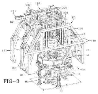 Aparato y método manipulador de segmento de núcleo de construcción de neumático.