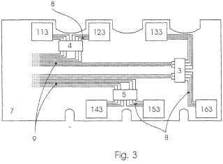 Montaje de circuito excitador para un módulo de semiconductor de potencia.
