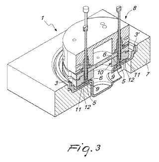 Procedimiento de fabricación de unidades de filtrado y aparato correspondiente.