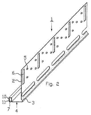Perfil de extensión para aumentar la altura de un soporte.