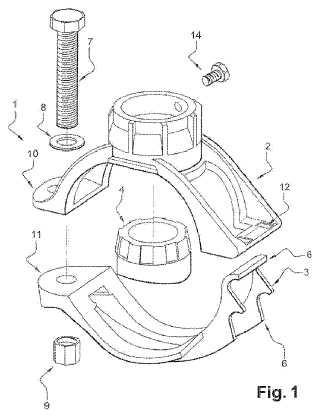 Abrazadera de toma de carga rígida multidiámetro para conducciones plásticas o rígidas de agua.
