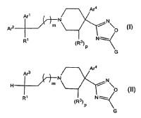 Compuestos de 4-oxadiazolil-piperidina y uso de los mismos.