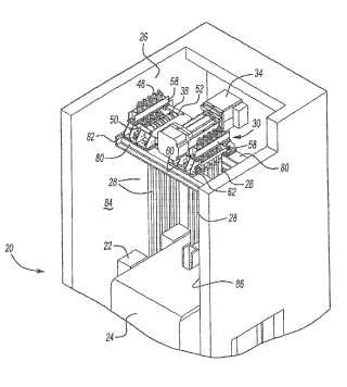 Soporte integrado para máquina de ascensor, poleas y terminaciones.