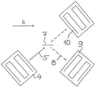 Dispositivo para ensayos no destructivos de paredes ferromagnéticas de elementos de construcción.