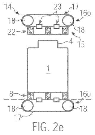 Procedimiento y dispositivo para la producción de una unidad de envasado.