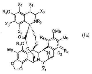Derivados antitumorales de ecteinascidina ET-743.