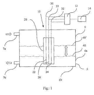 Método para medir el volumen de caudal de líquidos eléctricamente conductores a través de una vasija.