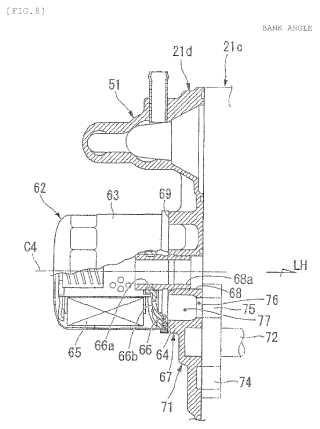 Estructura de paso de aceite de motor de combustión interna.