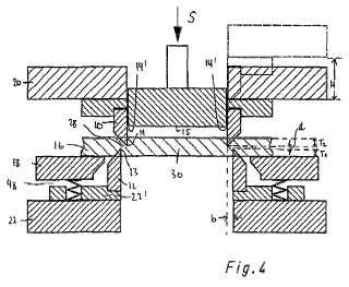 Dispositivo de troquelado y proceso para la operación del mismo.