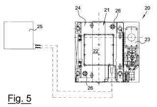 Dispositivo y procedimiento para colocar y bloquear lunetas para cilindros de laminador en rectificadoras y rectificadoras que emplean los mismos.
