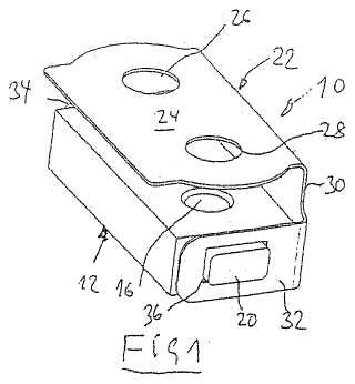 Dispositivo de fijación para la fijación de un componente a un elemento de soporte.