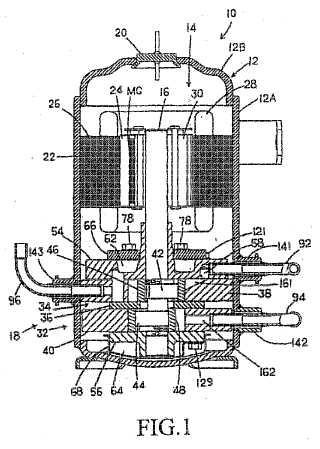 Compresor rotativo de tipo de compresión de múltiples etapas.