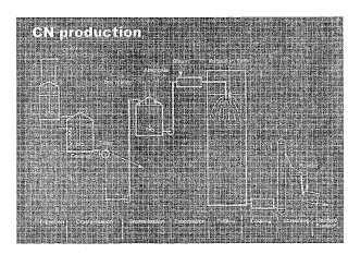 Producción de un material de NPK o NP que contiene polifosfatos.