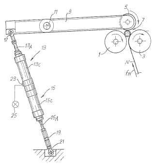 Rebobinadora y procedimiento de producción de bobinas, con medios para controlar el diámetro final de dichas bobinas.