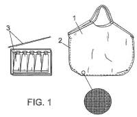Estructura para bolsos, mochilas, cortes para calzados y similares.
