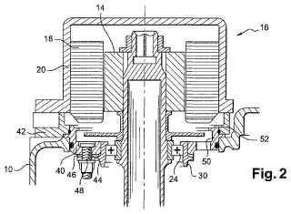 Caja de accesorios en un motor de avión del tipo turborreactor.