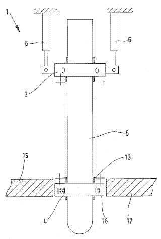 Dispositivo para reajustar un electrodo para un horno metalúrgico.