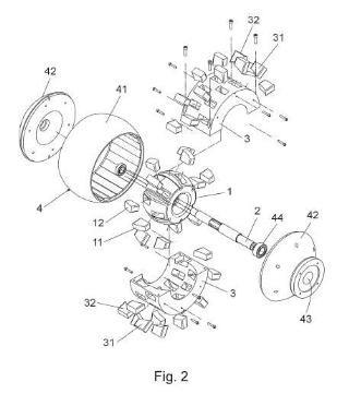Dispositivo generador de movimiento de giro.