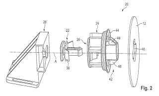Dispositivo para la fijación de un revestimiento interior de vehículo.