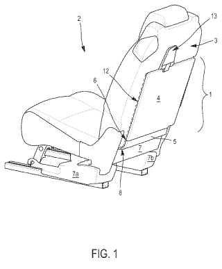 Tablero para enmascarar una cavidad en la parte trasera de un asiento de un vehículo automóvil.