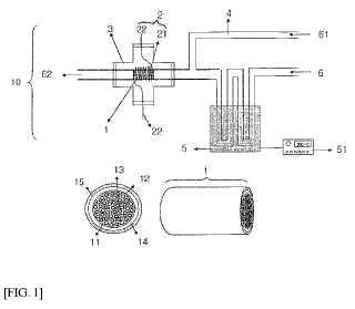 Módulo de reactor micro tubular que comprende un material de carbono de panal de abeja micro tubular y procedimiento para la producción del módulo de reactor micro tubular.