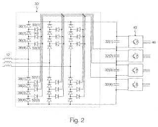 Circuito convertidor de alimentación y procedimiento para controlarlo.