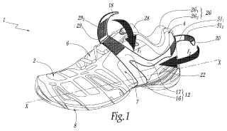 Zapato, en particular zapato de deporte, que comprende un dispositivo de apriete.